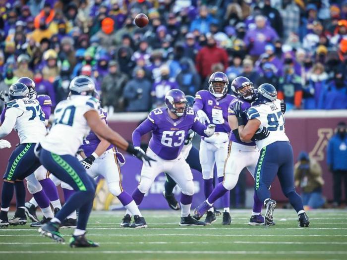 Vikings Jeff Davidson Offensive Line