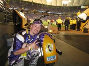 Christina is remembered on the back of Todd's bike, which Ragnar used to ride into every Vikings game