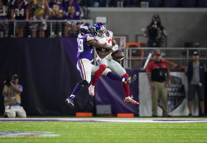 The Rhodes were closed for Odell Beckham Jr. and the Giants in Week 4. (Vikings.com)