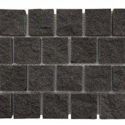 Basalt - Jet Black Hand Cut Interlocking Cobble