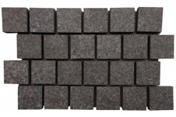 Basalt - Schwartz Exfoliated Cobble on mesh
