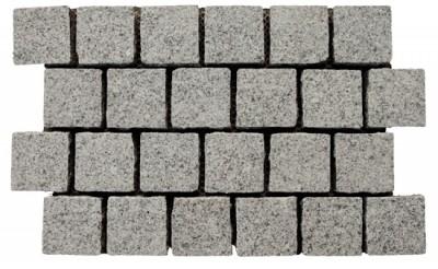Granite - Swan Interlocking Cobble on Mesh
