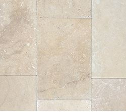 Nougat tumbled travertine