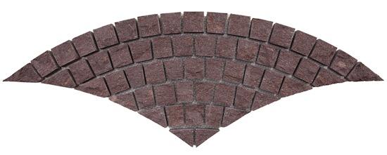 Porphyry - Portree - Fan Pattern Cobble