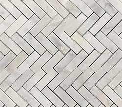 VSM01 Helsinki White Polished Herringbone Marble Mosiac