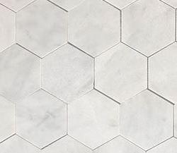 VSM06 Helsinki White Large Hexagon Polished Marble