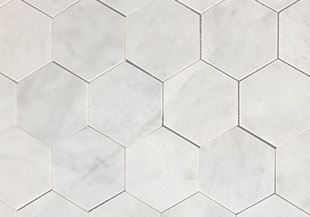 VSM06 Helsinki White Large Hexagon Polished Marble