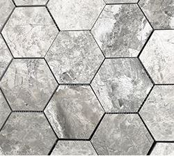 VSM09 Hiraeth Large Hexagon HONED Marble
