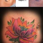 Lotus flower hand tattoo