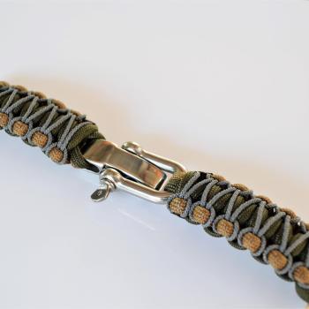 Фото ремешок из паракорад с застежкой для часов, плетение кобра