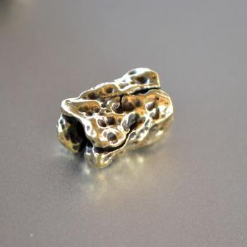 Фото латуннвя бусина метеорит для браслета
