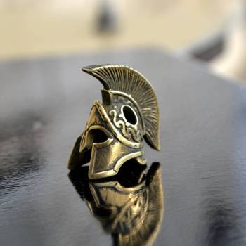 Фото бусина для паракорда шлем спартанца