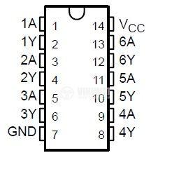 IC 74LS04 TTL series LS HEX INVERTER DIP14 vikiwat