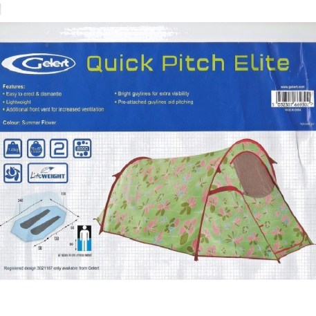 Quick Pitch - Camping tent 2 person Pic1