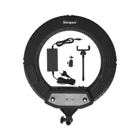Simpex LED 522 Ring Light 18 inch Studio Lighting with Phone Holder 2