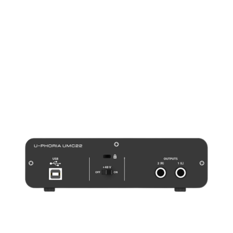 Behringer U-PHORIA UMC22 Audiophile 2x2 USB Audio Interface with MIDAS Mic Preamplifier 2