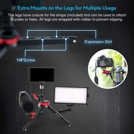 Moman Tabletop Tripod with 360 Degree Camera Ball Head