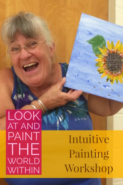 Happy Painter at an Intuitive Painting Workshop