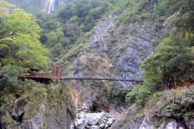 1. This is a hanging bridge and I CROSSED IT!!! People who know me can imagine what a challenge it was for me. I stood in front of it knowing that I will definitely do it but still not daring to. Taiwanese people saw my hesitation, smiled and tried to encourage me. Was sooo nice of them! :)