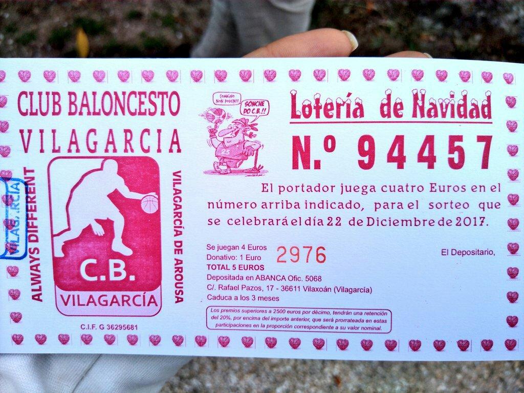 Consigue ya la lotería de navidad del CB Vilagarcía