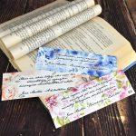 Jane Austen idézetek az olvasásról - matt fóliázott könyvjelző