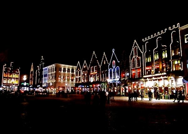 Karácsonyi vásár Brugge