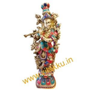 Krishna with Stone Work