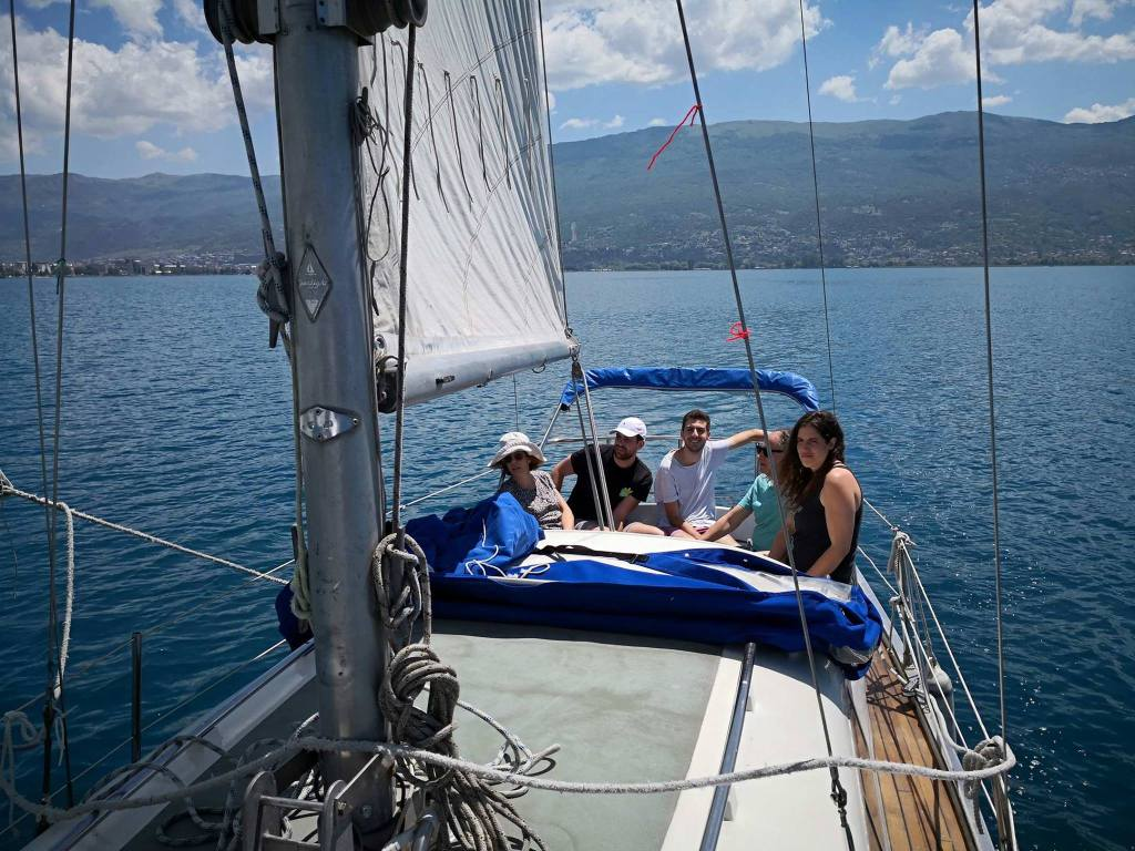 Ohrid lake sailing
