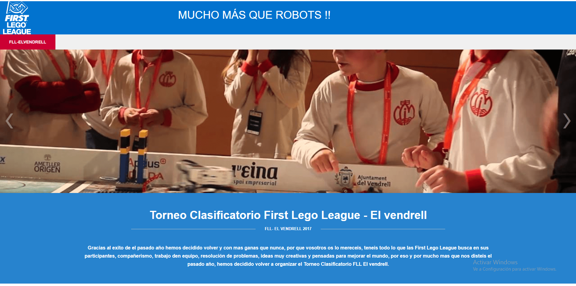 Web de la First Lego League Vendrell