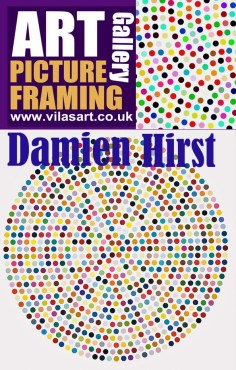 ICAS Art gallery picture framing Damien Hirst