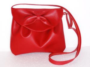 сумка с бантиком красная