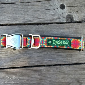 Cycle dog Red Orange Kaleidoscope hundhalsband
