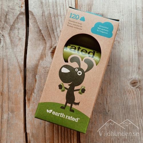 bild på en förpackning med earth rated poopbags