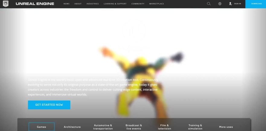 unreal engine game development software
