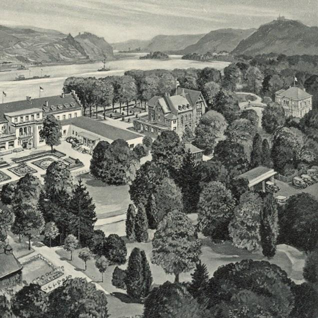 der alte Kurpark mit der Villa rechts