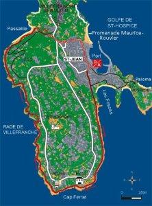 Cap Ferrat map