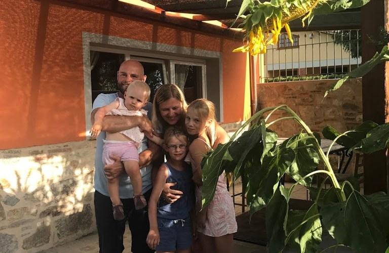una bella famiglia dalla Germania