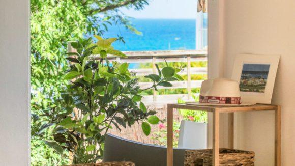 La vue mer depuis le séjour de la Villa Blue Lagoon Saint-François