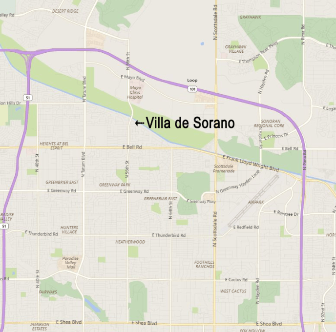 Villa de Sorano's convenient location