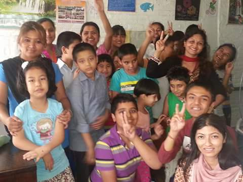 (Acknowledgement to donors 1 )Happy faces of students at (Special School for Disabled Rehabilitation Center) SSDRC