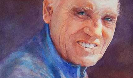 Image of watercolor portrait by Mary Burgess