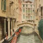 Image of watercolor painting of Venice by VGA artist Lane Clem