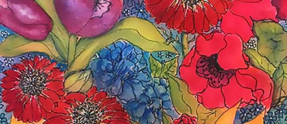 image of pen and ink and watercolor art by Sharla Sevy