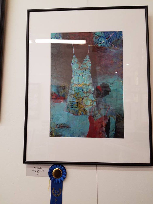 image of painting by VGA Artist Liz Walker - Hanging Dress