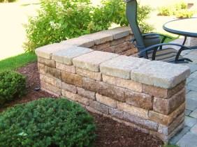 Hardscape Decorative Paver Brick Short Wall Landscaping