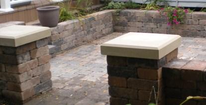 Hardscape Decorative Paver Brick Short Wall Landscaping 2