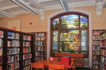 Chatham Library Tiffany window