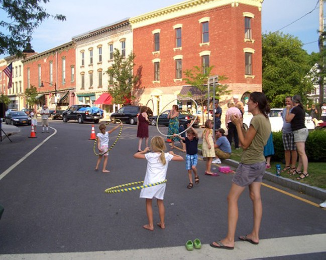 Hula hooping at Summerfest