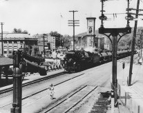 Train on Main Street, Chatham, NY