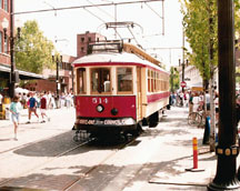 Trolley Car in Downtown